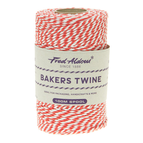 Fred Aldous - Original Bakers Twine - Strawberry - White - 100mt