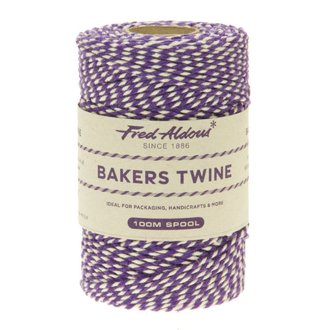 Fred Aldous - Original Bakers Twine - Violet - White - 100mt