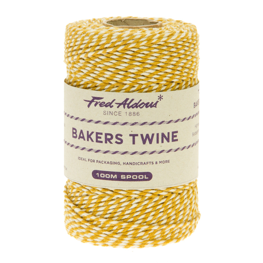Fred Aldous - Original Bakers Twine - York Gold - White - 100mt