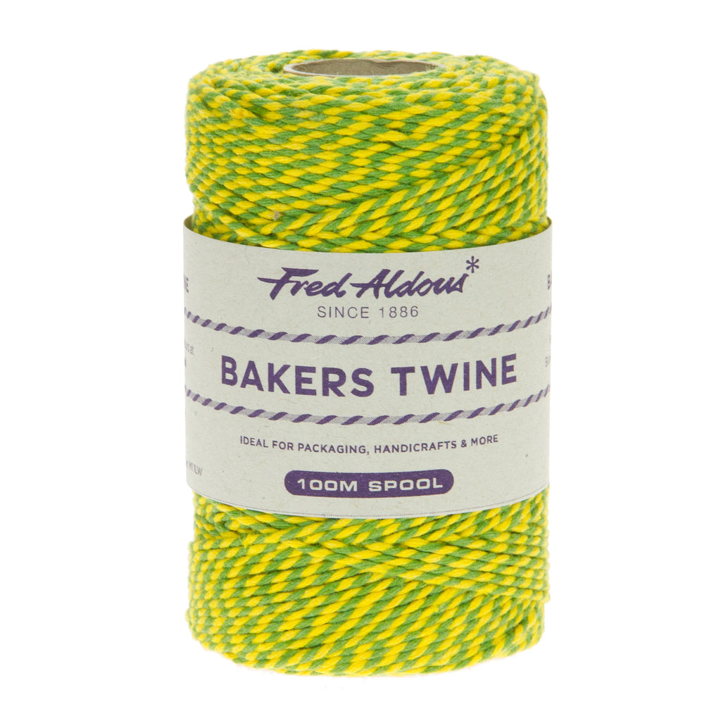 Fred Aldous - Two Tone Bakers Twine - Lemon - Lime - 100mt