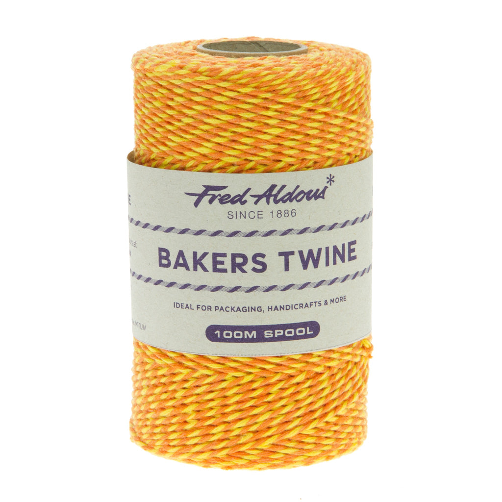 Fred Aldous - Two Tone Bakers Twine - Orange - Yellow - 100mt