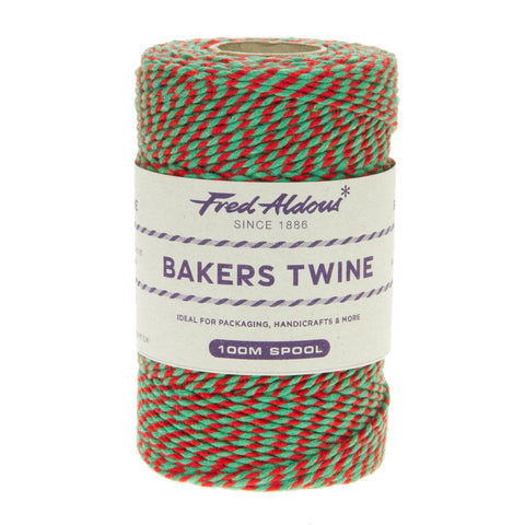 Fred Aldous - Two Tone Bakers Twine - Red - Green - 100mt