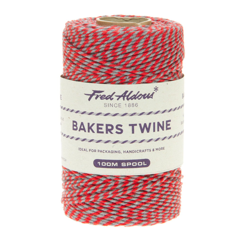 Fred Aldous - Two Tone Bakers Twine - Red - Slate - 100mt