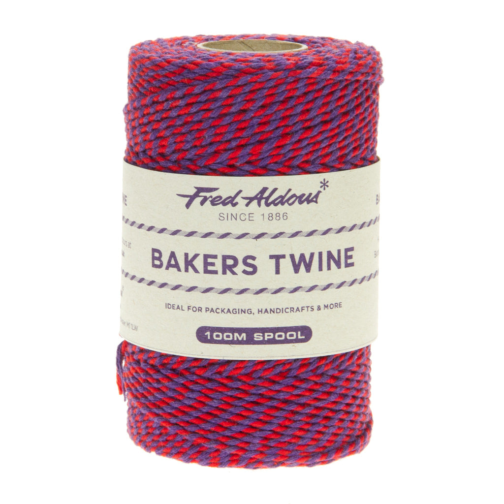 Fred Aldous - Two Tone Bakers Twine - Red - Violet - 100mt