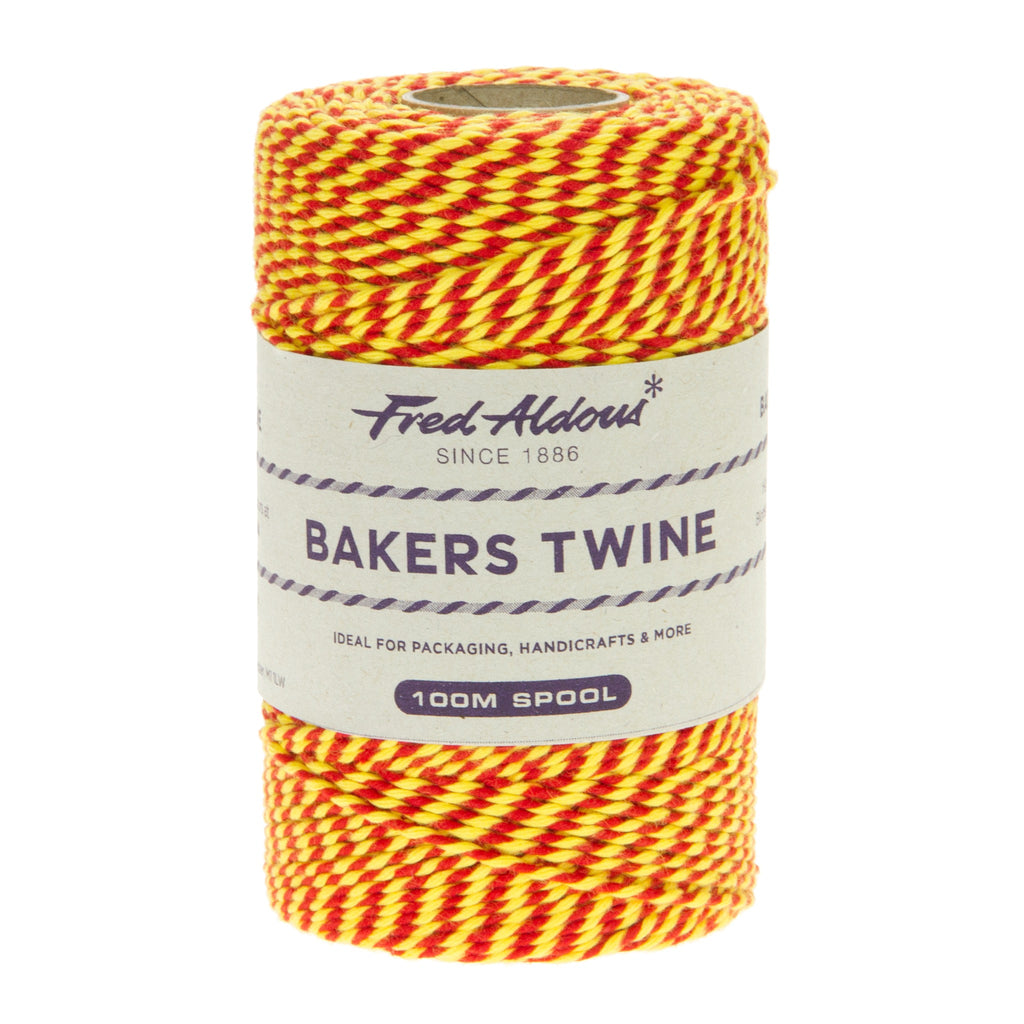 Fred Aldous - Two Tone Bakers Twine - Red - Yellow - 100mt