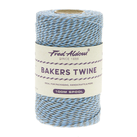 Fred Aldous - Two Tone Bakers Twine - Slate - Sky - 100mt