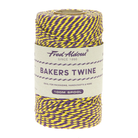 Fred Aldous - Two Tone Bakers Twine - Violet - Daffodil - 100mt