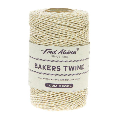Fred Aldous - Metallic Bakers Twine - Gold Metallic - 100mt