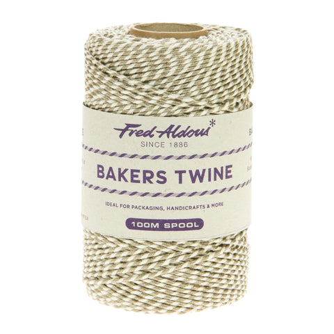 Fred Aldous - Metallic Bakers Twine - Platinum Metallic - 100mt