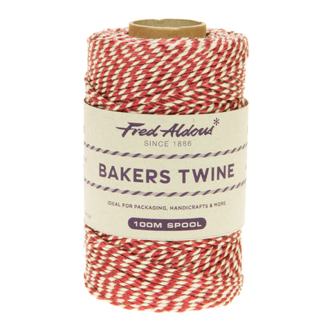 Fred Aldous - Metallic Bakers Twine - Burgundy Metallic - 100mt