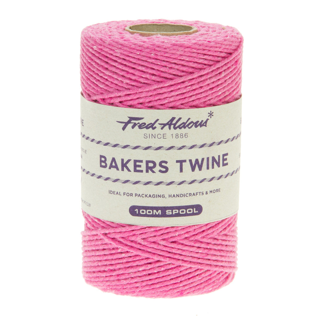 Fred Aldous - Solid Bakers Twine - Fuchsia - 100mt