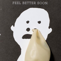Egg Press Card Feel better balloon