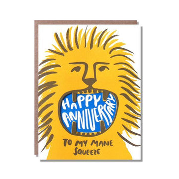 Egg Press Card Roaring anniversary lion