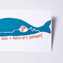 Egg Press Card Whale of a Birthday