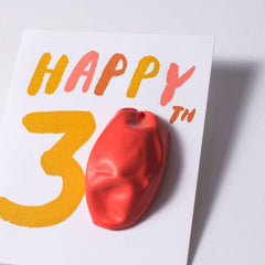 Egg Press Card Happy 30 Birthday Balloon