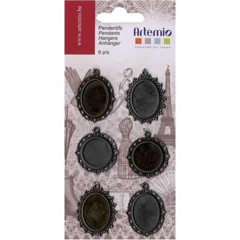 Artemio Oldies Pendants 6Pcs