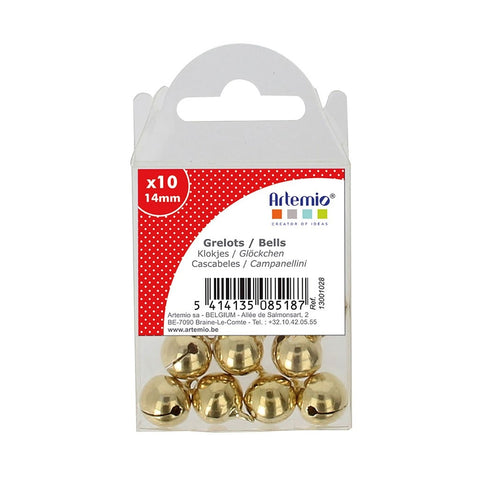 Artemio 10 Bells 14mm Gold