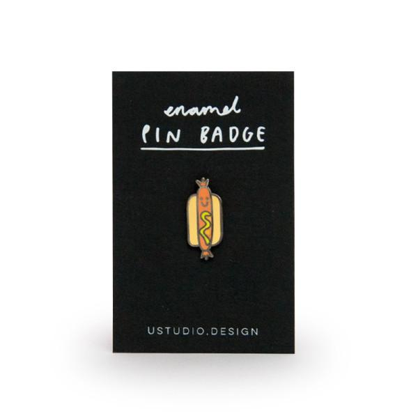Enamel Pin Badge - Cute Hot Dog