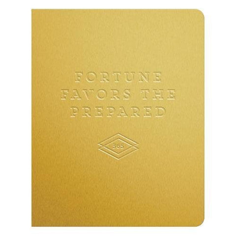 Fortune Favors the Prepared Gold Deluxe Pocket Undated Planner: