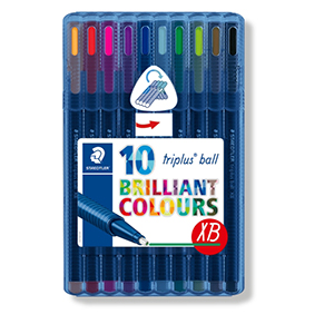 Triplus Ball Xtra Broad - 10pcs - Brilliant Colours