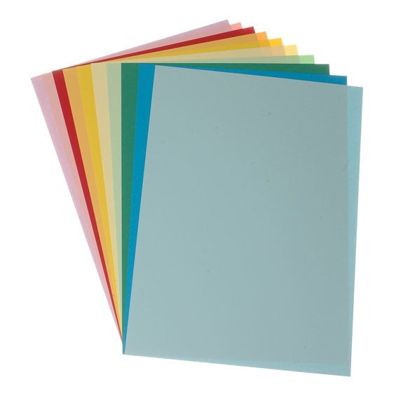 Coloured Card A4 Asst - 10 Pk