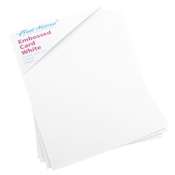 Embossed Card A4 White - 6 Pk