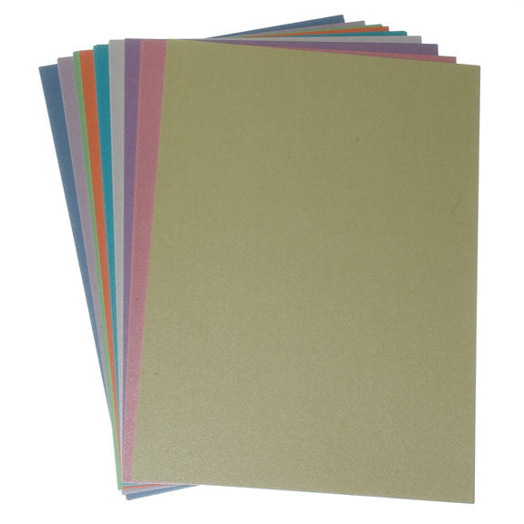 Pearl Card A4 - 50 Pack Assorted colours.