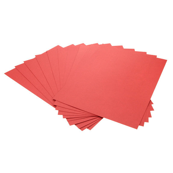 Cardstock Plain Red A4 - 25 Pk