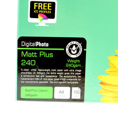 A4 PermaJet Digital Photo Paper Matt/Plus - 240gsm - 100pk