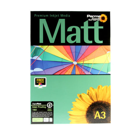 A3 PermaJet Digital Photo Paper Matt Proofing - 160gsm - 75pk