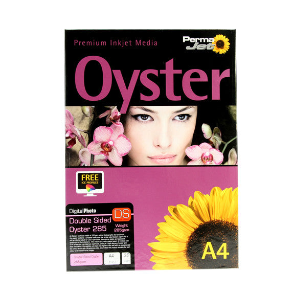 A4 PermaJet Digital Photo Paper Double-Sided Oyster - 285gsm - 25pk