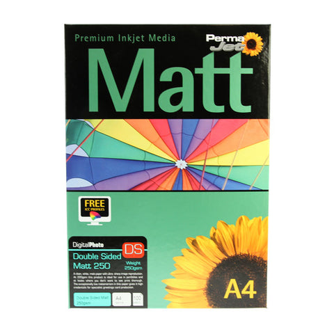 A4 PermaJet Digital Photo Paper Double-Sided Matt - 250gsm - 100pk