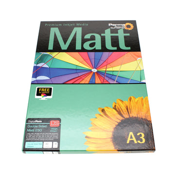 A3 PermaJet Digital Photo Paper Double-Sided Matt - 250gsm - 50pk