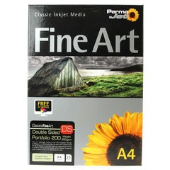 A4 PermaJet Fine Art Double Sided Printer Paper Portfolio - 200gsm - 25pk