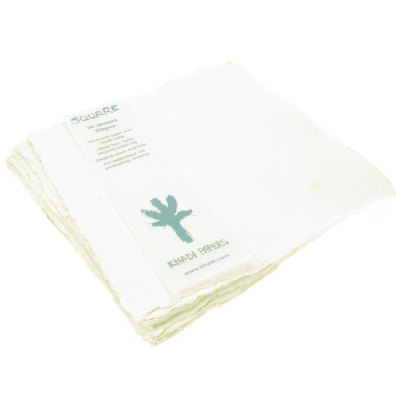 Handmade Paper made from 100% recycled Cotton . 20cmX20cm,20 sheets,320gsm.