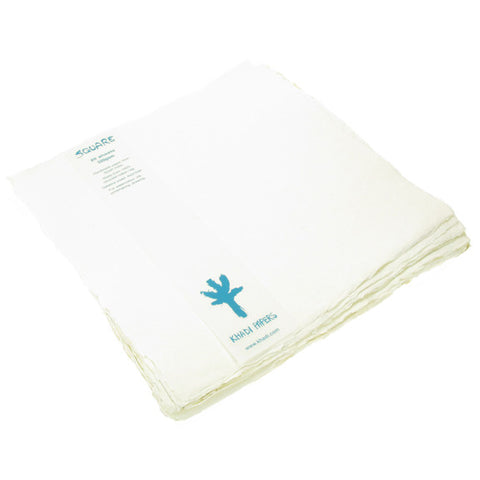 Handmade Paper - 100% recycled Cotton Rag. 30cm x 30cm, 20 sheets, 320gsm.
