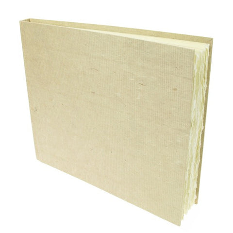 Handmade Paper Hardback Sketchbook Large, white rough, 21cm x 25cm. 210gsm