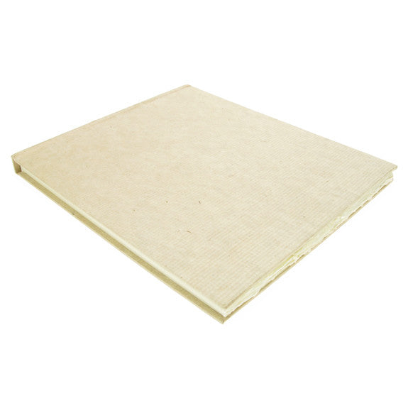 Handmade Paper Hardback Sketchbook Large, white smooth, 21cm x 25cm. 210gsm