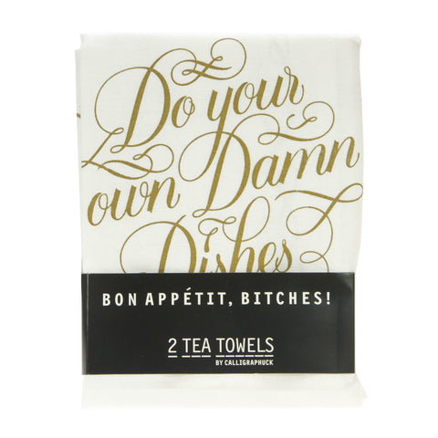Bon Appetit Bitches! 2 Tea Towels