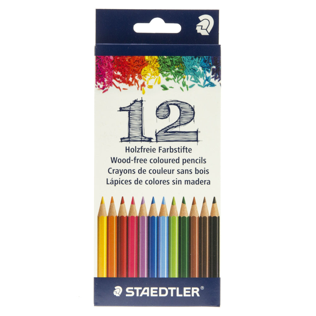 Wood-Free Coloured Pencils 12
