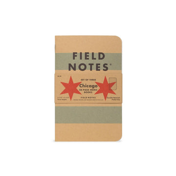 FIELD NOTES Pack of 3 Notebooks - Chicago