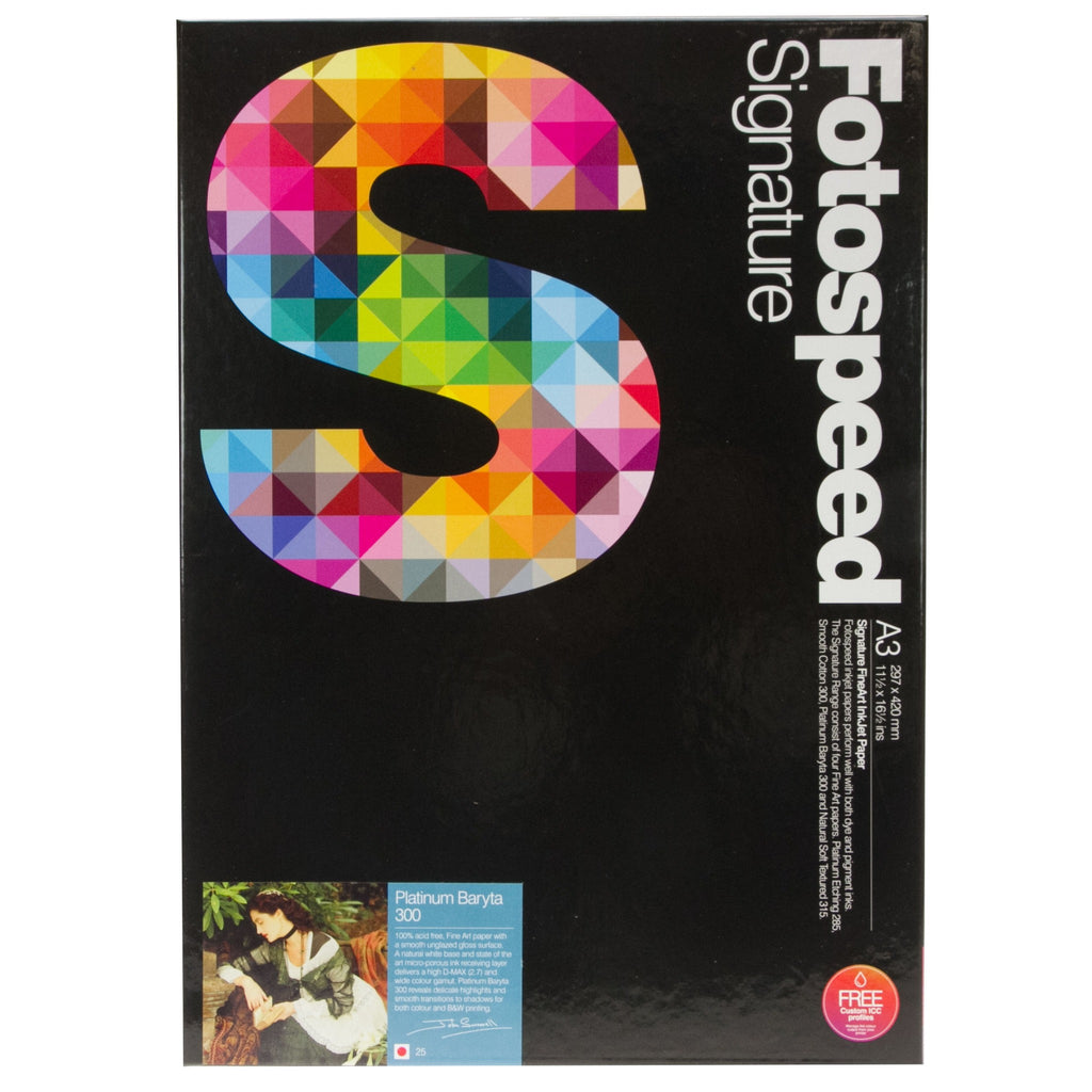 Fotospeed Platinum Baryta 300 Signature A3 inkjet paper - 25 pack