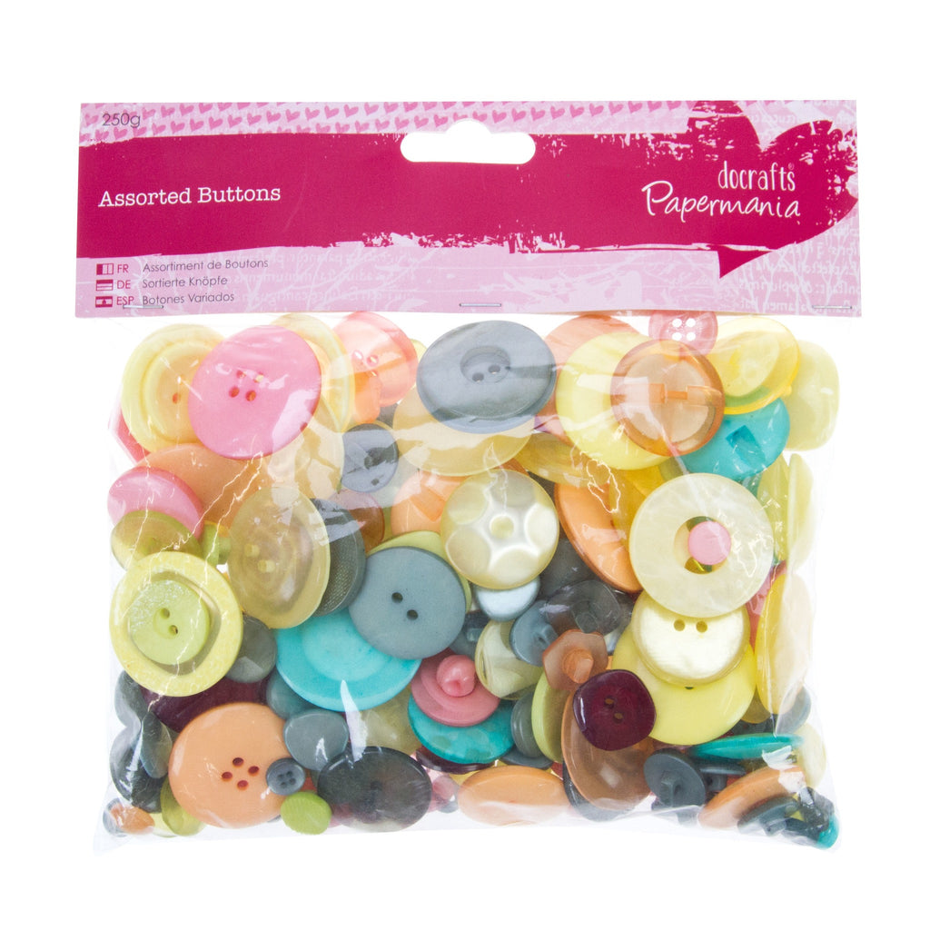 Docrafts Assorted Buttons Vintage - 250gm