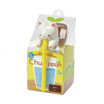 Chuppon Drinking Animal Planter - Cat / Mint