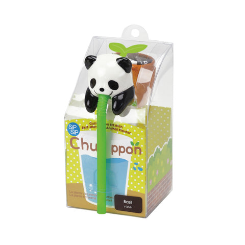 Chuppon Drinking Animal Planter - Panda / Basil