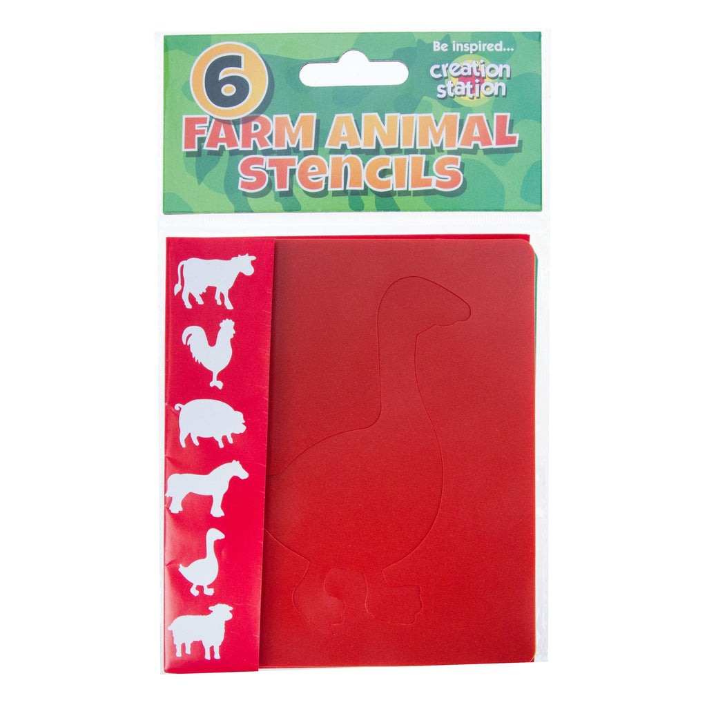 Creation Station Farm Animal Stencils - 6 Pack