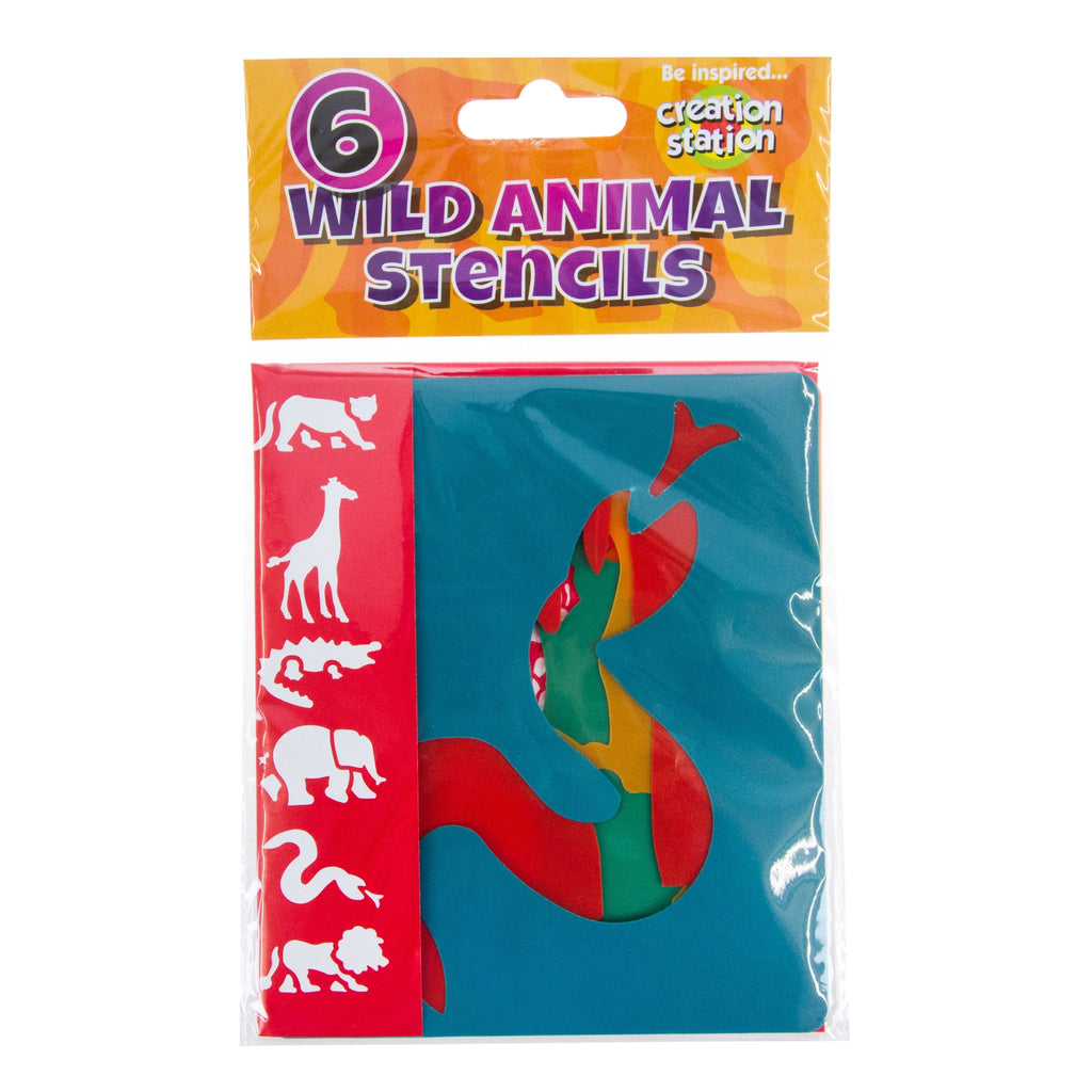 Creation Station Wild Animal Stencils - 6 Pack