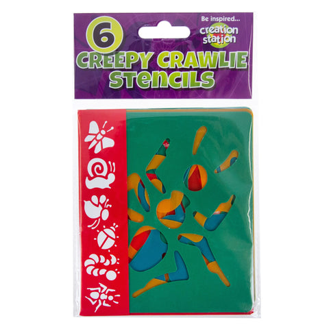Creation Station Creepy Crawlies Stencils - 6 Pack