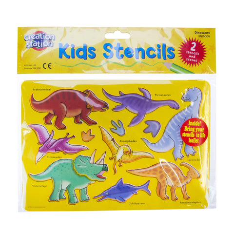 Creation Station Dinosaur Stencils - 2 Pack