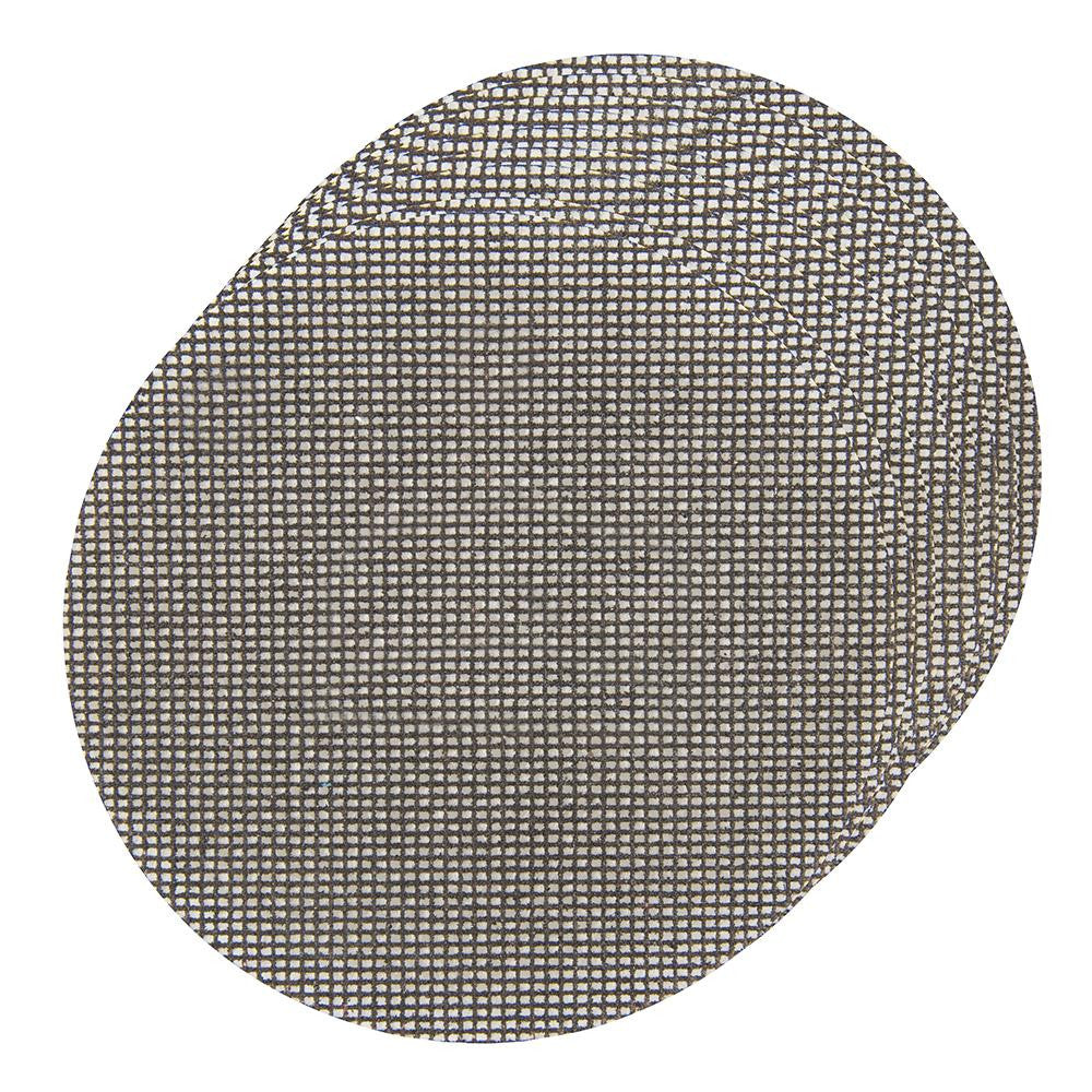 Silverline Hook & Loop Mesh Discs 150mm - 4 x 40Grit , 4 x 80Grit , 2 x 120Grit